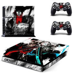 One Piece Colorskin Stickers for Sony Playstation 4 Console protective decal & 2 Controllers Stickers //Price: $19.00 & FREE Shipping // #onepiece #onepieceanime #dluffystore