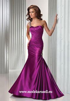 Prinzessin Abendkleid Lang Lila Flieder Violett www.modekarusell.eu