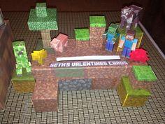 Mommy Planet plan it, save it, share it...: Minecraft 3-D valentine box