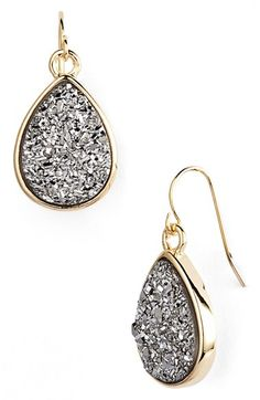 Marcia Moran Drusy Teardrop Earrings available at #Nordstrom