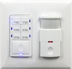 Topgreener Tdos5 Het06a Bathroom Fan Timer Switch And Light Sensor Control 30 Minute
