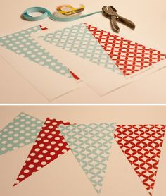Ruff Draft: How to make Party Banners : Anders Ruff Custom Designs :