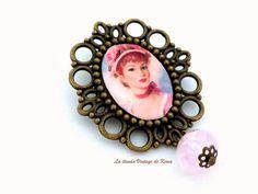 Broche cuenta rosa REF. 12 de La Tienda Vintage de Kima por DaWanda.com