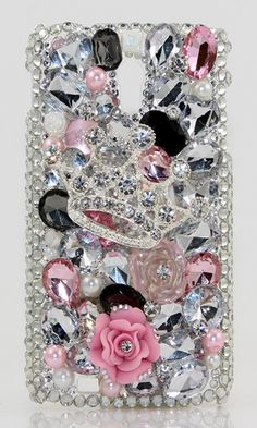 Tiaras and Trinkets Bling case Design case made for HTC Epic Touch,  iPhone 4/ 4s, iPhone 5/ 5s, iPhone 6/ 6s Plus, Samsung Galaxy (S3, S4, S6 Edge), Galaxy Note( 2, 3, 4, 5), Nokia Lumia, Black Berry, LG, Motorola and for most  phone/device. http://luxaddiction.com/collections/3d-designs/products/tiaras-and-trinkets-design-style-391