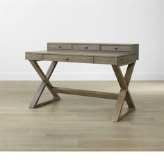 I don't really know why I'm pinning this here I just think it's so cool. Greydon Desk, Crate & Barrel