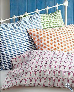 Blue Yellow Orange Modern Nautical Print Sheets Home Design - Orange print sheets