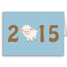 2015 - Year of the sheep design Cards