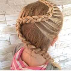 "1,727 Likes, 19 Comments - Little Girl Hairstyles (@braidsforlittlegirls) on Instagram: ""Love this pretty style!  So different  Credit @2littlegirls_hairstyles ❤️ #braidsforlittlegirls"""