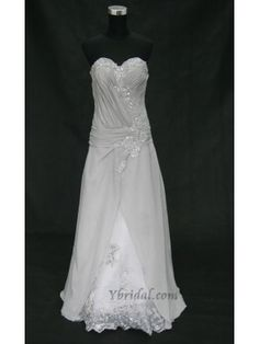 A-line Sweetheart Floor-length Chiffon Mother of the Bride Dress MOB0056
