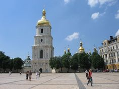 The Saint Sophia Cathedral in Kiev, the capital of Ukraine. Teaching English in Ukraine http://www.happycatstefl.com/country-guides-and-advice/europe/teaching-english-in-ukraine/#
