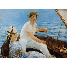 Trademark Fine Art Boating 1874 Canvas Art by Edouard Manet, Size: 14 x 19, Multicolor