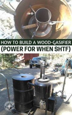 A wood/biomass gasifier can be the solution to this problem of sustainable power; see this great step-by-step tutorial on building your own gasifier. #homestead #prepping #shtf