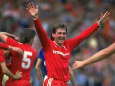 Liverpool FC Player/Manager Kenny Dalglish celebrates the 1986 FA Cup Final victory at Wembley. #LFC