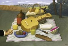 Pic Nic Artwork By Fernando Botero Oil Painting & Art Prints On Canvas For Sale Frida Diego, Fat Art, Life Symbol, Life Pictures, Life Pics, Picnic Time, Naive Art, Deck Of Cards, American Artists