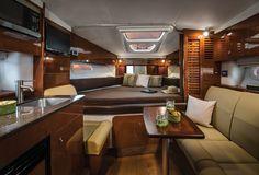 Pure Luxury - Sea Ray L-Class Boat Interior