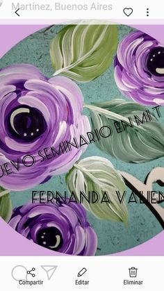 Painting Techniques, Flower Art, Folk Art, Diy And Crafts, Hand Painted, Canvas, Drawings, Flowers, Vintage