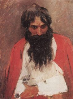 Vasily Surikov - Black-bearded Sagittarius 1879