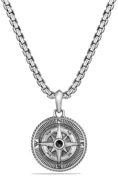 David Yurman Maritime Compass Amulet with Black Diamonds Jewelry & Accessories - Bloomingdale's - Best Picture For hair Accessories For Your Taste You are looking for something, and it is going t - Men Necklace, Fashion Necklace, Jewelry Necklaces, Black Diamond Jewelry, Compass Necklace, Gifts For Nature Lovers, Minimalist Necklace, Jewelry Accessories, Bracelets