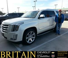 I came in to Britain Chevy Cadillac thinking they would tell me the same thing I've been hearing. We will have to order you an Escalade. To my surprise Mike Donahoe said they had an Escalade on the lot that just came in. To my surprise they offered me a lower price and made it so easy. I will refer my friends and family for sure. - Colt Lowrey, Friday, January 23, 2015 http://www.britainchevy.com/?utm_source=Flickr&utm_medium=DMaxx_Photo&utm_campaign=DeliveryMaxx