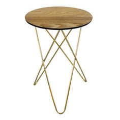 Picture of Wood and Metal Hairpin Table