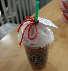 Need to wrap a Starbucks gift card?  I love this idea from Little Cakes!  Unfortunately, you might just have to buy yourself a Frappuccino if the barista won't give you a clean cup for free. ;)