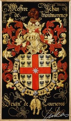 JEHAN DE MONTMORENCY, Armorial plate from the Order of the Golden Fleece, 1559, Saint Bavo Cathedral, Gent