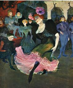 Marcelle Lender Dancing The Bolero in Chilperic, 1895 // painting by Henri Toulouse Lautrec