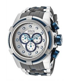 INVICTA WATCHES BOLT RESERVE SILVER DIAL GREY POLYURETHANE – REDUCERE 94% !