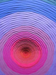 paper art spiral sculptures by French designer Maud Vantours