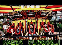 Panic Plunge at Silverwood Theme Park, Coeur' d Alene, Idaho