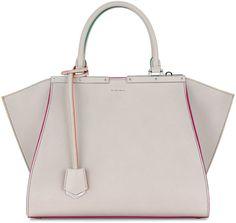 Fendi 3 Jours Leather Satchel Bag, Gray Multi