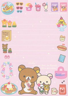 "San-X Rilakkuma ""Aloha"" Memo Envelopes, Rilakkuma Wallpaper, Memo Notepad, Cute Letters, Cute Stationary, Cute Notebooks, Character Wallpaper, Stationery Paper, Note Paper"
