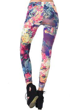 #Romwe Flowers Print Leggings