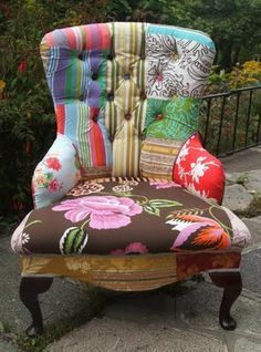 Upcycled patchwork chair