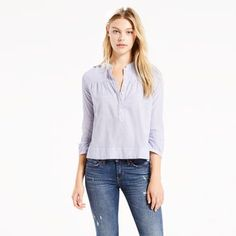Levi's® women's shirts, blouses & denim tops are a modern twist on classic styles that have defined generations. Shop shirts, blouses & tops at Levi's® US for the best selection online. Denim Blouse, Denim Top, Skinny Fit, Skinny Jeans, Levis Jean Jacket, Shirt Shop, Blouses For Women, Casual, Shirts