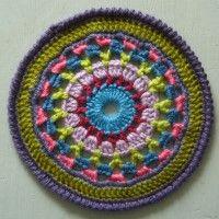 Crochet Mandala Wheel made by Dominique, France, for yarndale.co.uk