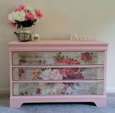 Beautiful old draws refurbished.using craig n ros. Beautiful old draws refurbished.using craig n rose pale cream. Decopage Furniture, Paint Furniture, Unique Furniture, Upcycled Furniture, Shabby Chic Furniture, Shabby Chic Decor, Furniture Projects, Furniture Makeover, Home Decor