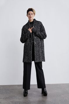 Image 1 of HERRINGBONE COAT from Zara