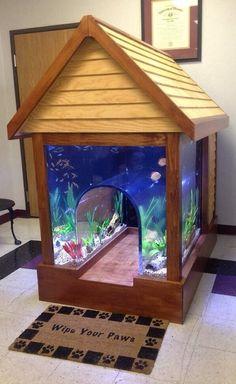 An aquarium dog house