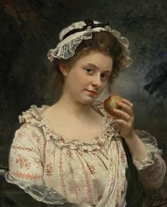Gustave Jean Jacquet (1846 - 1909) - The first bite