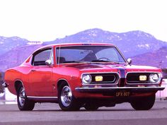 The second-generation 1967 to 1969 Barracuda, though still Valiant-based, was heavily redesigned. Second-generation A-body cars were available in fastback, notchback, and convertible versions. Muscle Cars, Daytona, Plymouth Barracuda, Motor Parts, Car Wallpapers, Drag Racing, Mopar, Vintage Cars, Classic Cars
