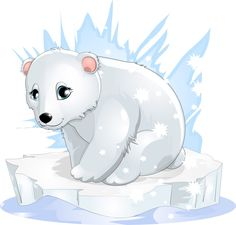 Cute Polar Bear - Free Animal Cartoon Download - Lots of free images on this site