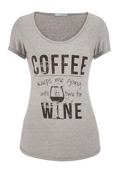 graphic tee with scoop neck #maurices #coffee #wine