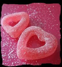caramella a forma di cuore <3 <3