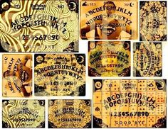 Altered OUIJA BOARDS Collage Sheet No.2 by phenomenon1859 on Etsy, $1.75