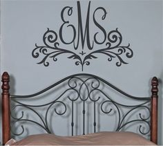 This whimsical Scroll Monogram Wall Decal is perfect for any young girl's room.   The completely customizable color selection makes this piece an easy fit in your home