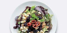 Salade speck, bleu, mûres et céleriSalade speck, bleu, mûres et céleri