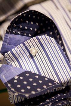 I contrasti dell'interno collo, i polsini, i bottoni originali: ogni particolare è realizzato perché nulla sia dato per scontato. #Belmonte #camicie