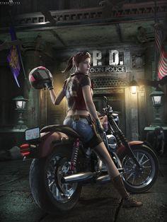Resident Evil 2 Characters - Here's the full lis Resident Evil Remake, Resident Evil Franchise, Resident Evil Girl, Evil Games, E Claire, Mundo Dos Games, Video Games, Video Game Art, Evil Art