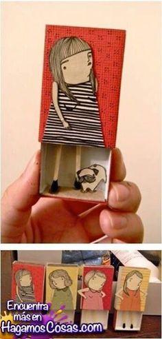 que creativo! hacer con cajitas de fósforos !